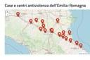 La mappa delle Case e dei Centri antiviolenza dell'Emilia-Romagna